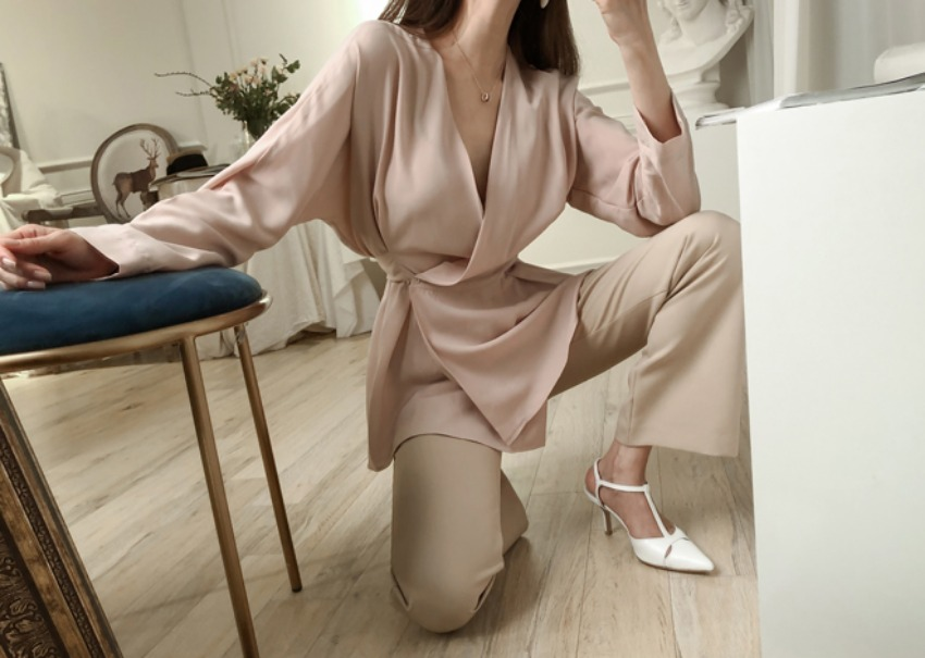 Epee wrap blouse