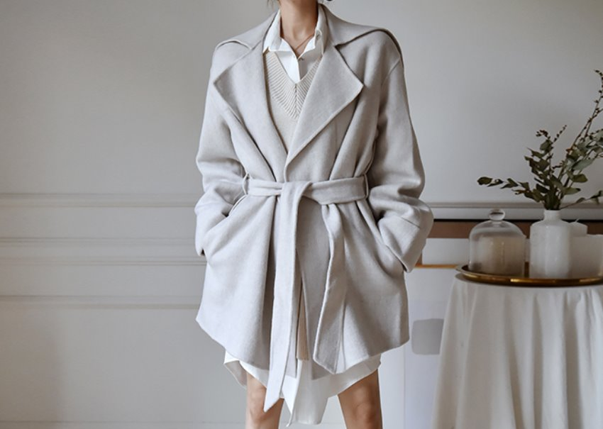 Damian Wide-Collar Coat [hand made]