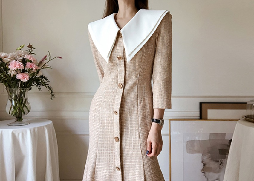 Nori tweed dress