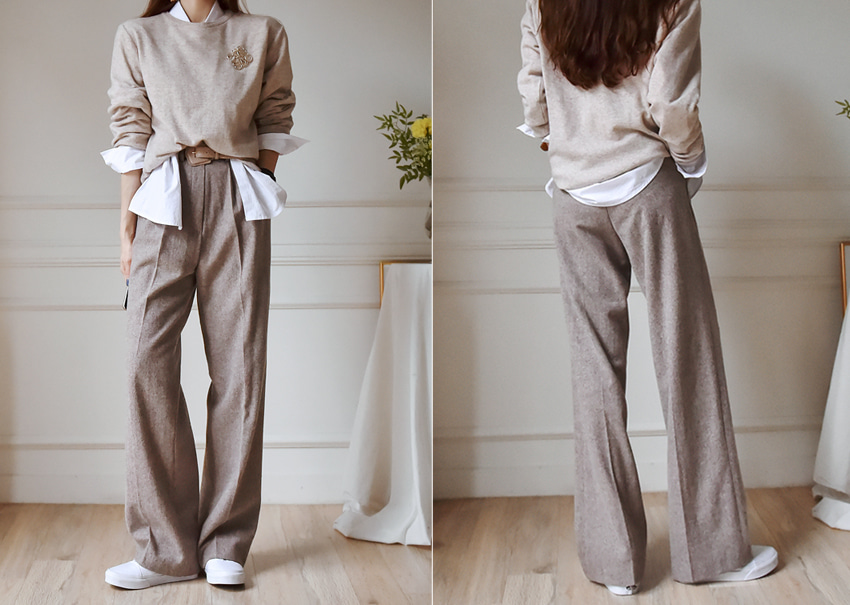 Clover wool pants