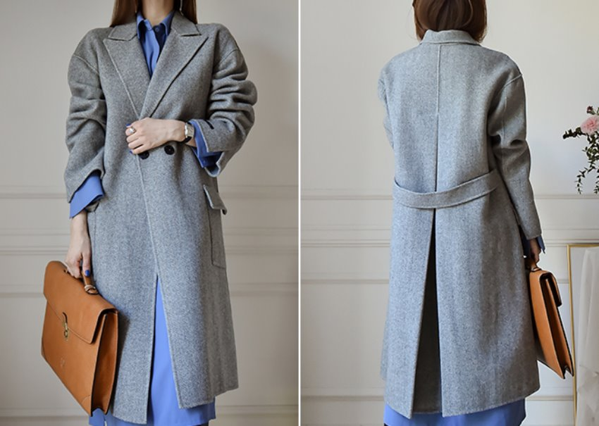 Central Harringbone Coat [hand made]