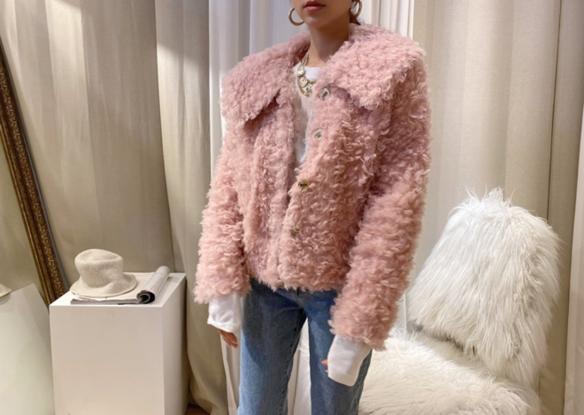 Sophia buckle jacket *[pink]