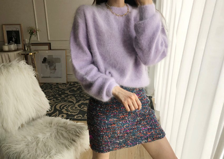 Latte Angora Knit *[purple]