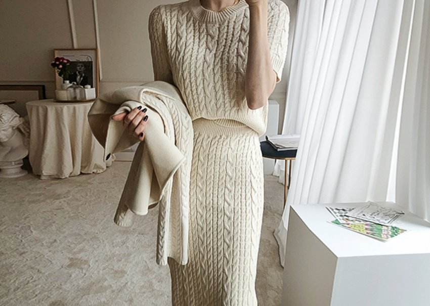Fine Knit Two-Piece