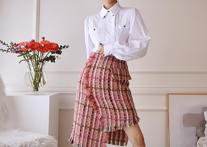 Bella tweed skirt