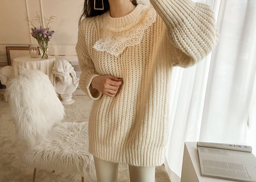 Sofia lace knit
