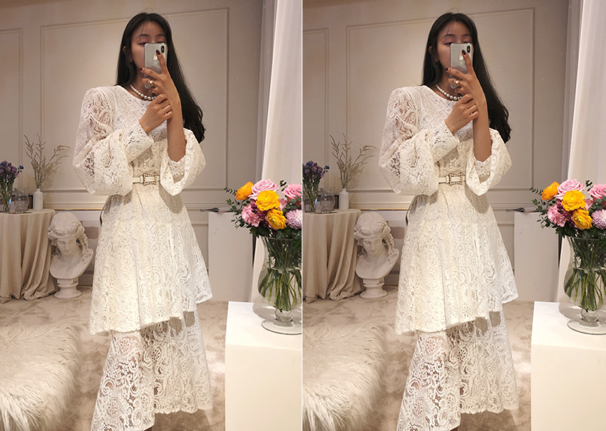 Polina lace dress