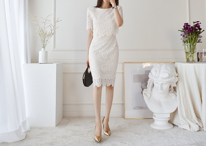 Miu lace dress *[ivory]