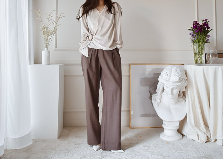 Luca Pintuck Pants *[brown]