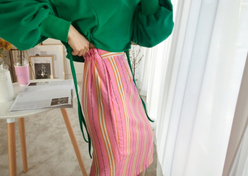 Martin stripe skirt