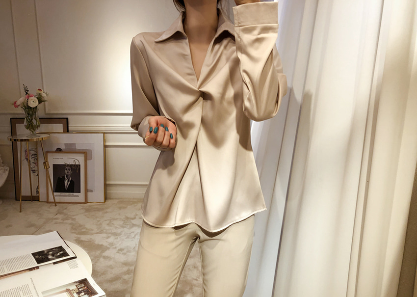 Satin rope blouse