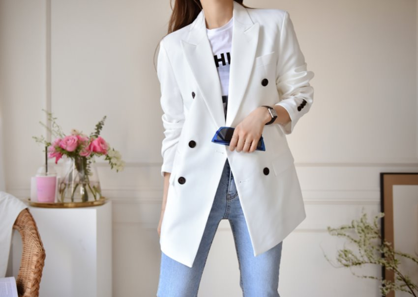 Mad double jacket *[white]