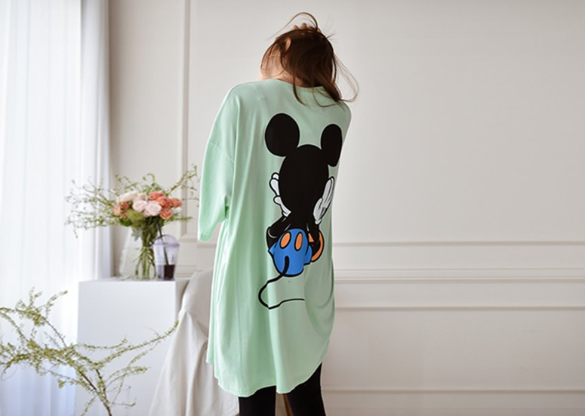 Mickey over T-shirt