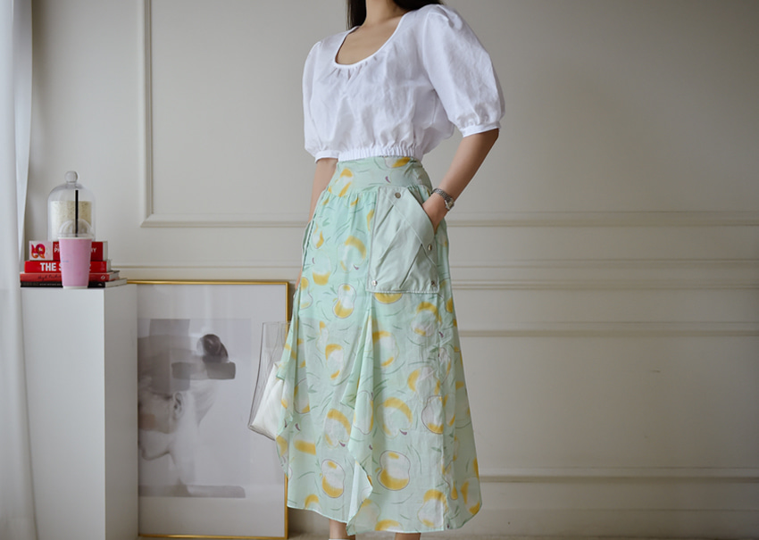 Apple mint skirt