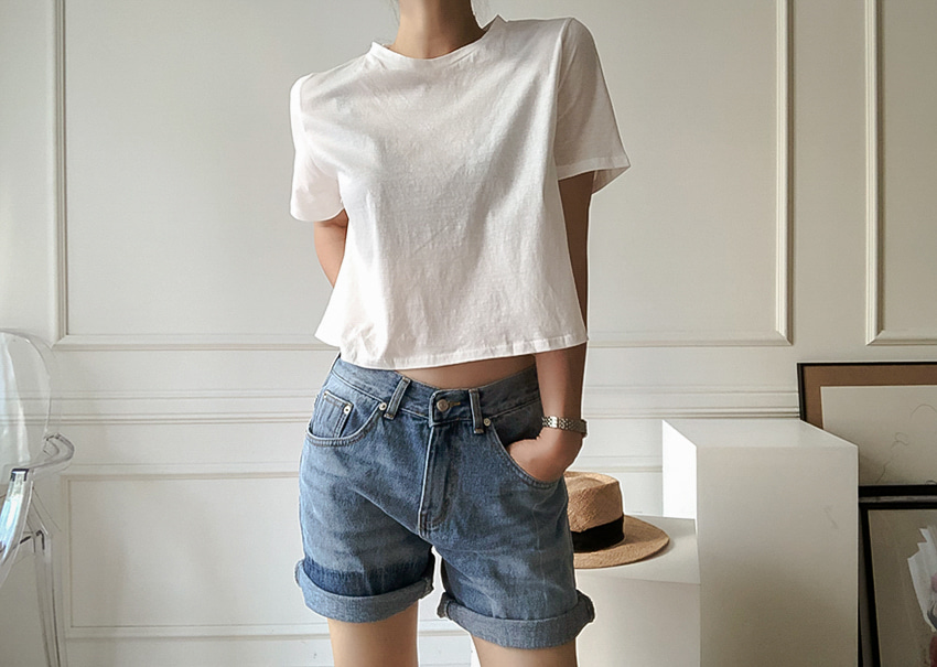 Boy Short Denim