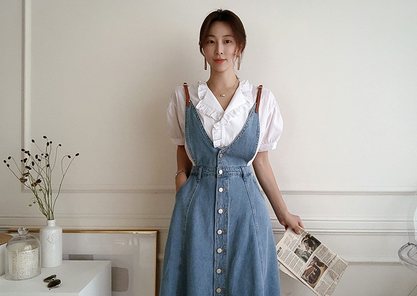 Yomi denim dress