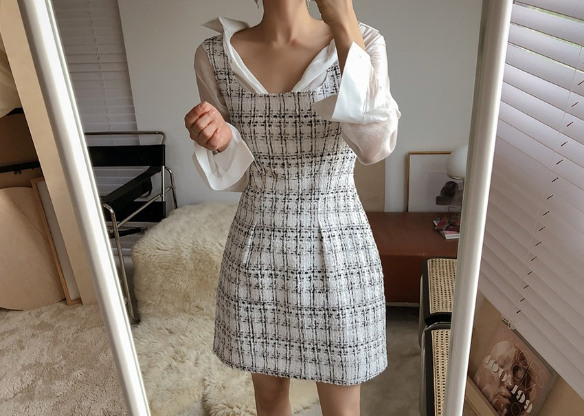 Lina tweed dress