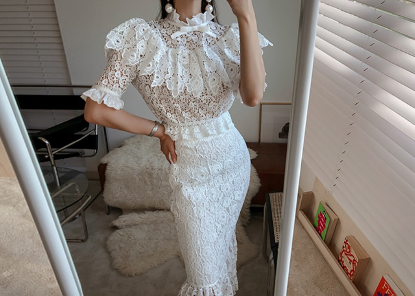 Miu Lace Two Piece