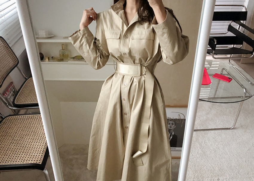 Central trench dress