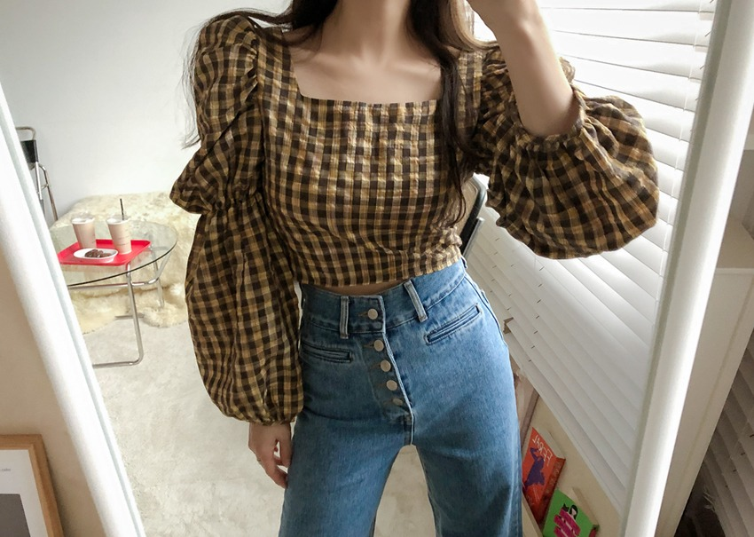 Dorothy check blouse