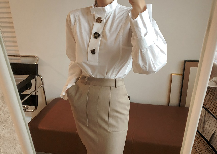 Dries button blouse
