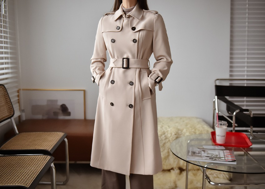 Riang slim trench coat