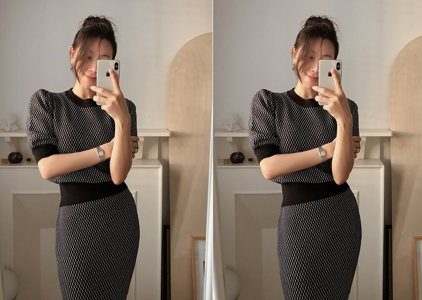 Chess knit Two-piece