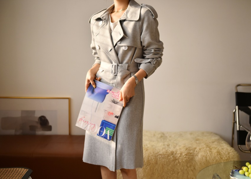 Two-way trench dress