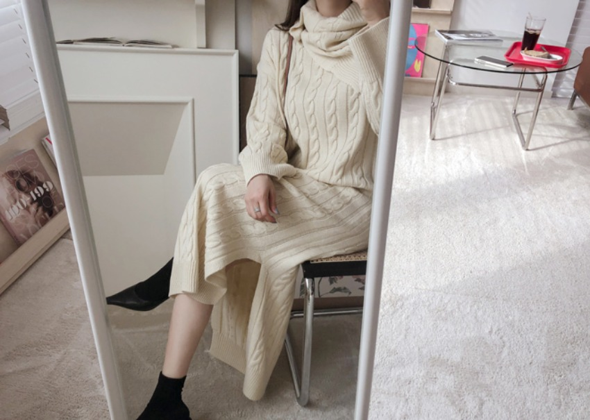 Warmer knit dress