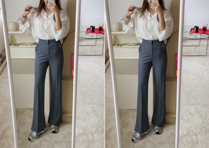 Collars slit Pants