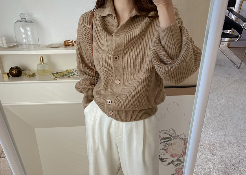 Polar button cardigan