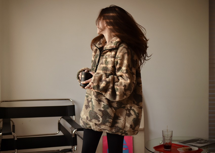Fleece Camo Anorak