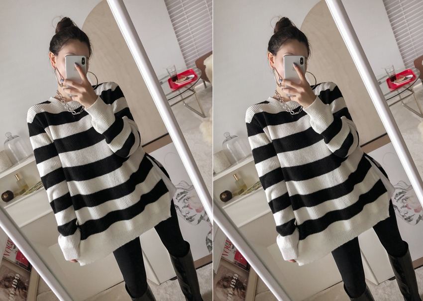 Audrey stripe knit