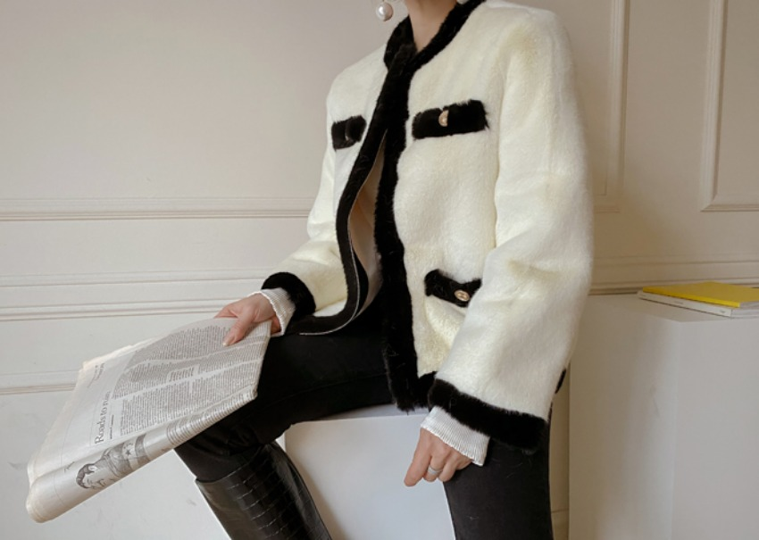 Coco two-tone fur jacket
