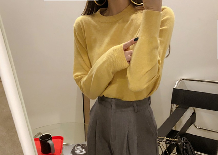 Egon cashmere knit *[yellow]