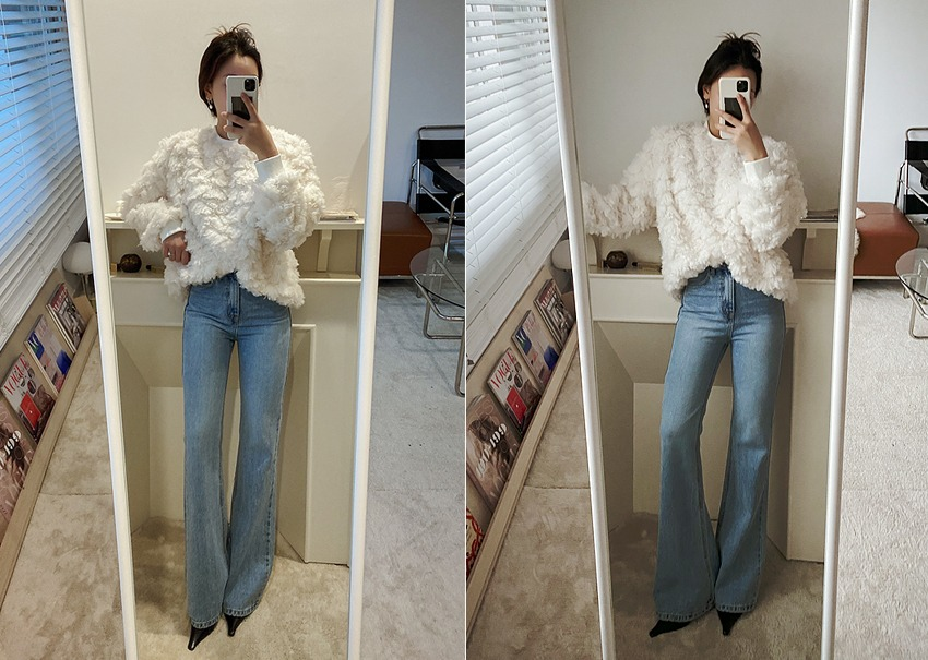 Veil denim pants