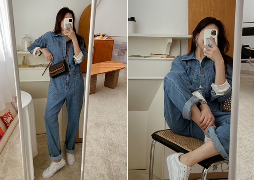 Honey denim jumpsuit