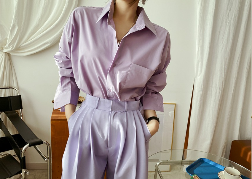 Clean over shirt *[purple]