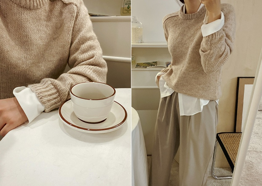 Mohair round knit