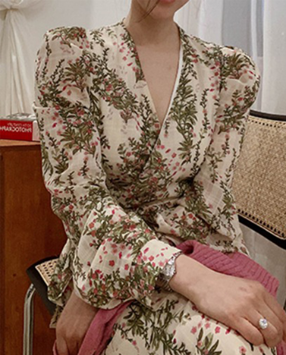 blossom wrap dress