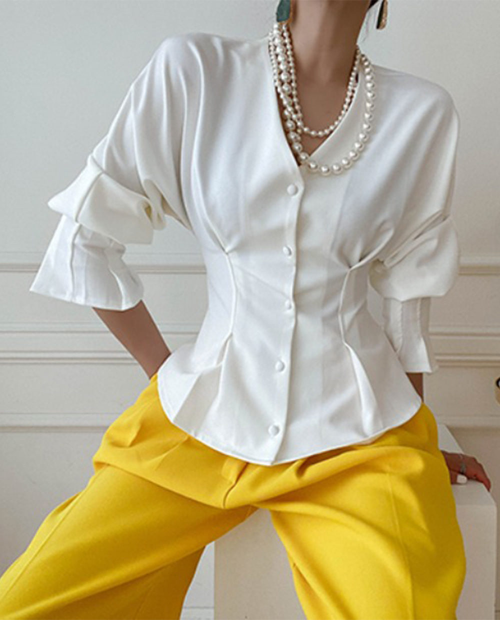 Lily pintuck blouse