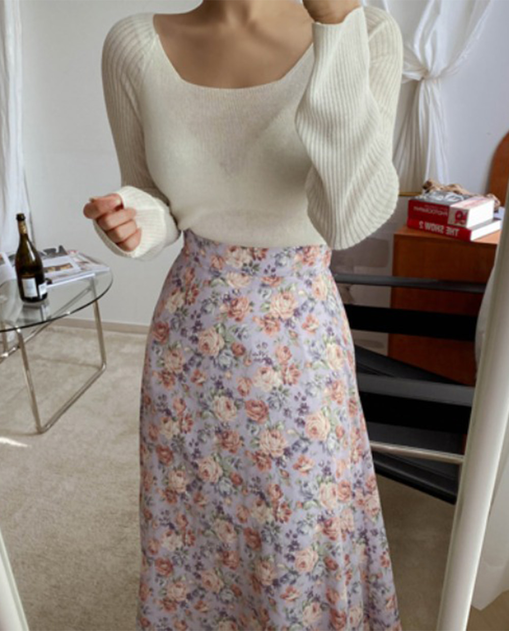 Melo flower skirt