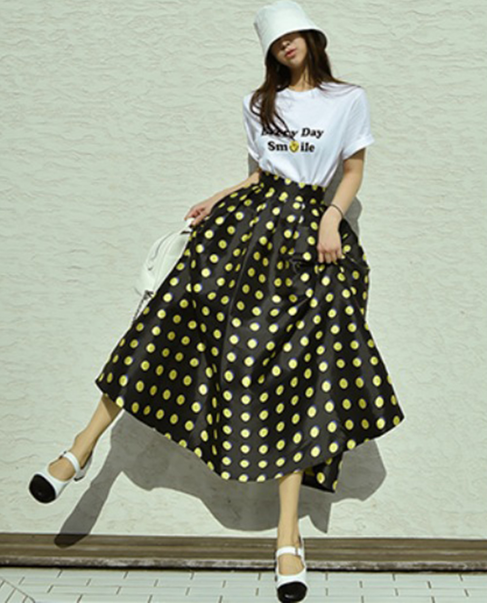 Double dot skirt *[yellow]