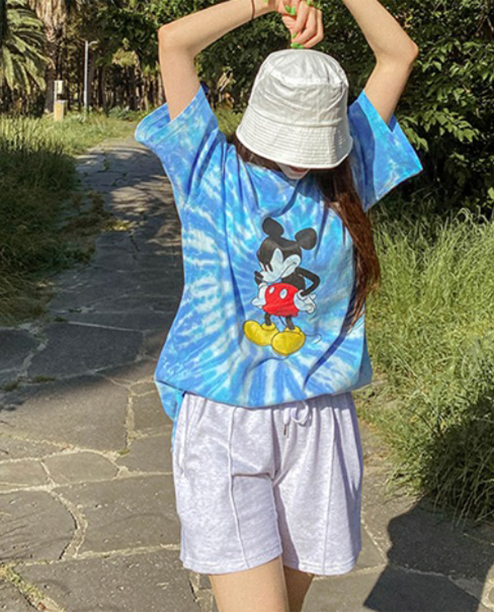 Water print Mickey T-shirt